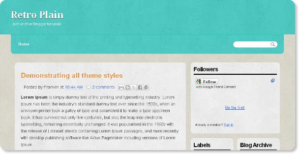 Best Plain Blogger Templates