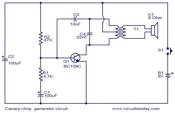 canary-chirping-generator-circuit