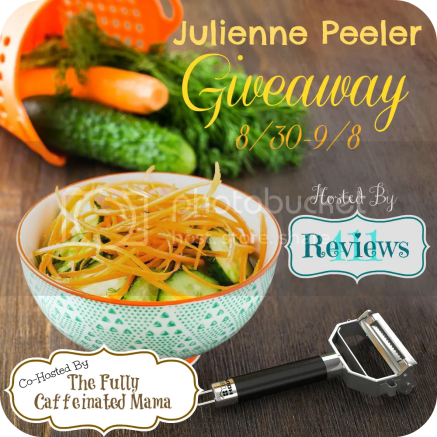 Blogger Opp: Julienne Peeler Giveaway. Signups close 8/28.