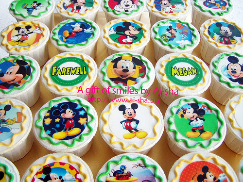 Birthday Cupcake Edible Image Mickey Mouse