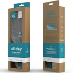 Go Comfort All Day Insoles Small, W: 6.5-9, Anti-fatigue Support For Hard Surfaces, Safeguards Against Stress And Strain, Teal