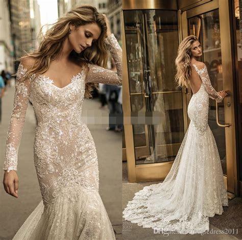 2017 Berta Bridal Long Sleeves Fit And Flare Lace Mermaid