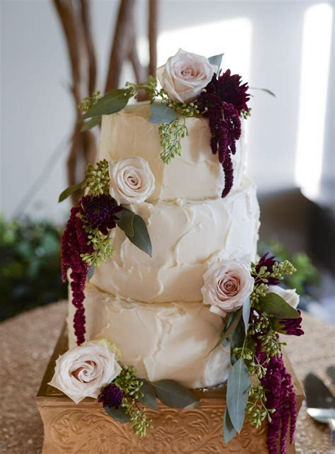 Wedding Cake   Rose Gold   Maroon and Green   Blush Pink