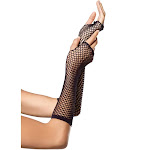 Triangle Net Elbow Length Fishnet Fingerless Gloves Costume Accessories