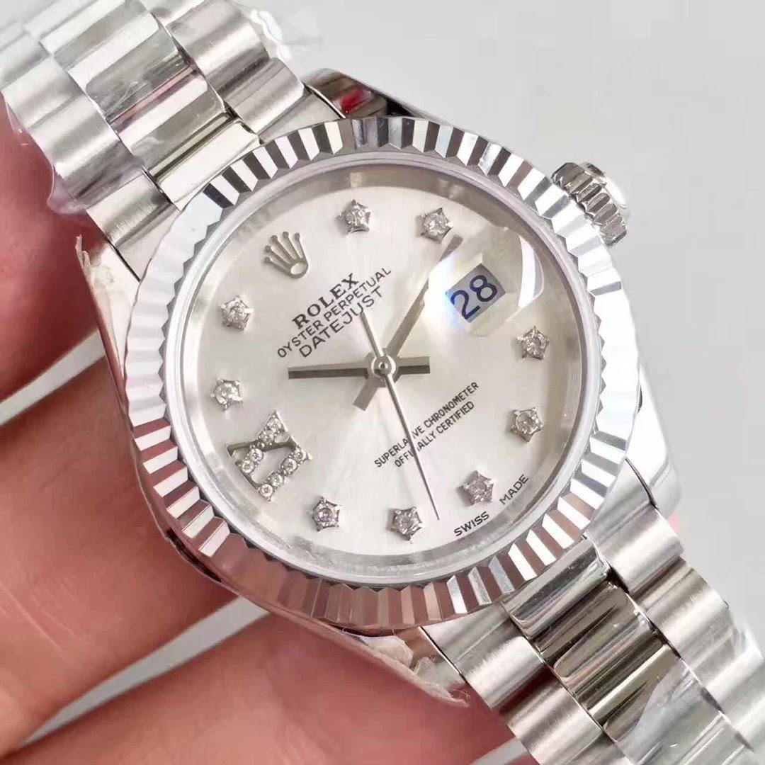 Rolex Datejust 28mm MOP White Dial