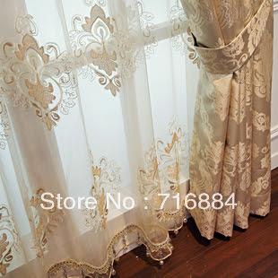 European villa curtains living room luxury upscale custom bedroom ...