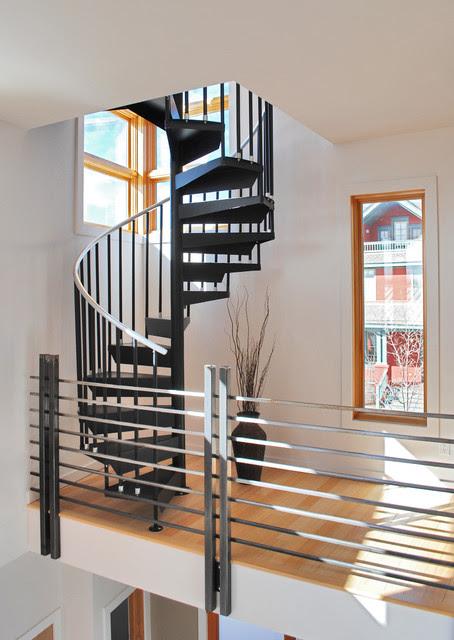 Prospect Courtyard Duplex - modern - staircase - denver - by ...