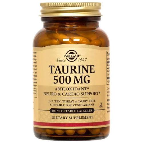 Solgar - Taurine 500 mg Vegetable Capsules - 100