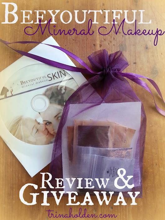 BeeYoutiful Mineral Makeup Review and Giveaway - Trina Holden