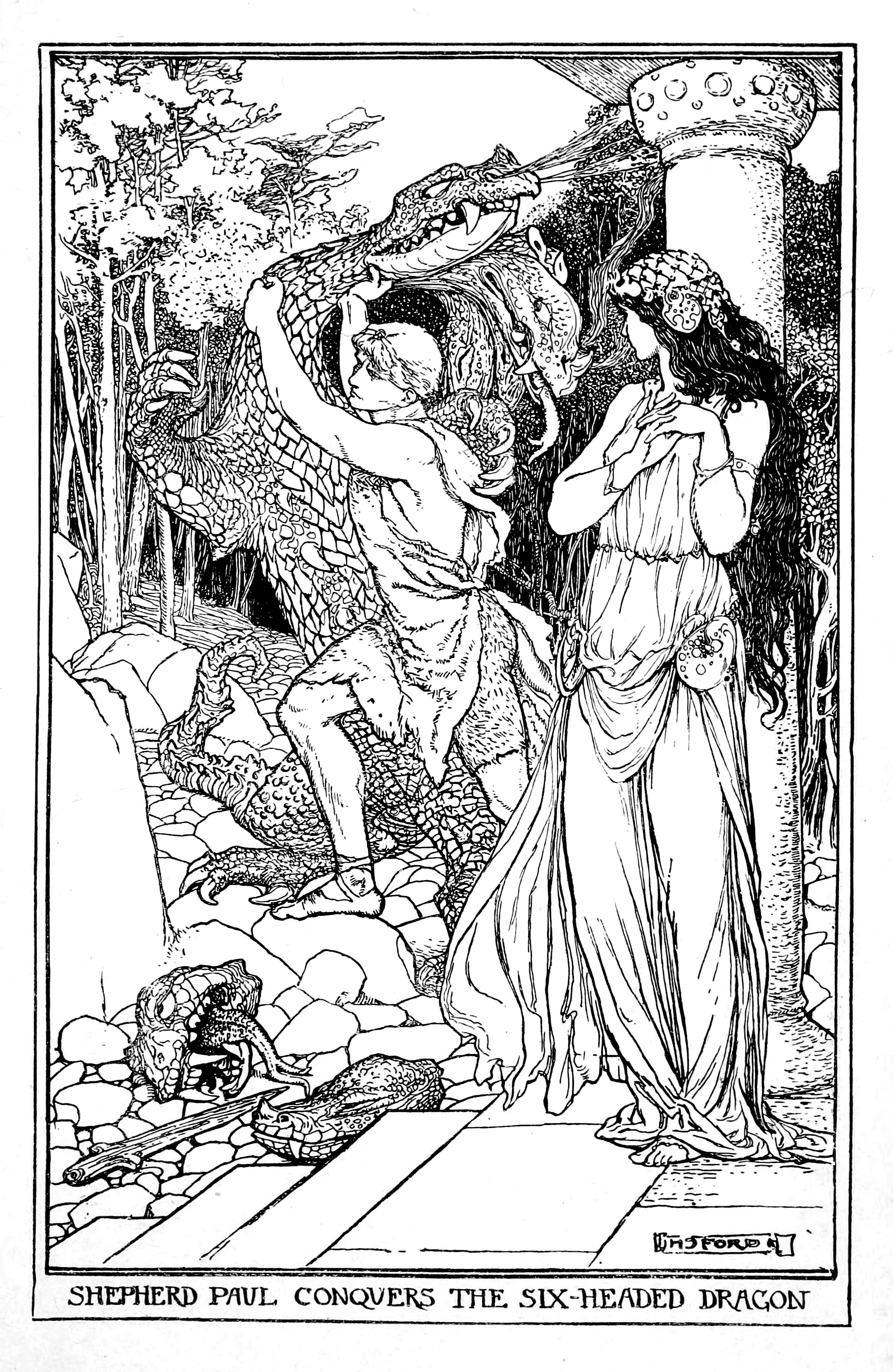 Henry Justice Ford - The crimson fairy book, edited by Andrew Lang, 1903 (illustration 11)