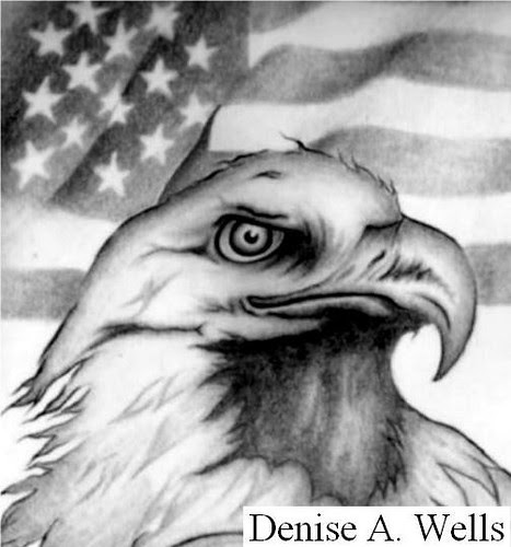 american flag tattoos for men. Eagle and American Flag Tattoo