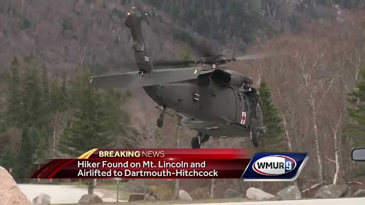 Missing hiker found alive on eastern side of Mt. Lincoln, airlifted to Dartmouth-Hitchcock