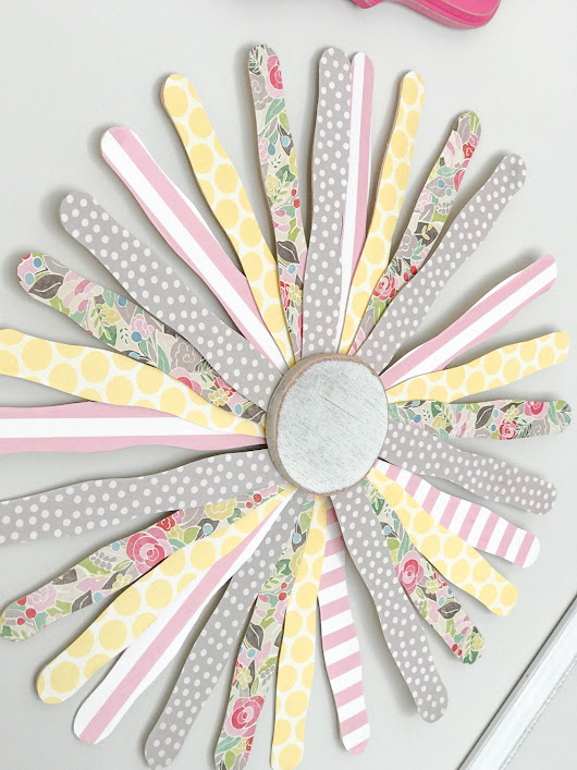 DIY Popcicle Stick Wall Flower - Re-Fabbed