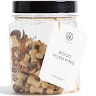 Ubrands Small Mason Jar with Wooden Push Pins - 150ct