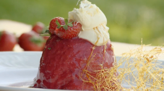 James Martin Strawberry Summer Pudding with Clotted Cream ...