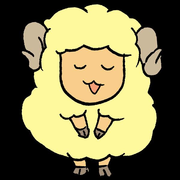羊お辞儀のイラスト かわいいフリー素材が無料のイラストレイン