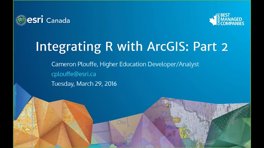Integrating R with ArcGIS