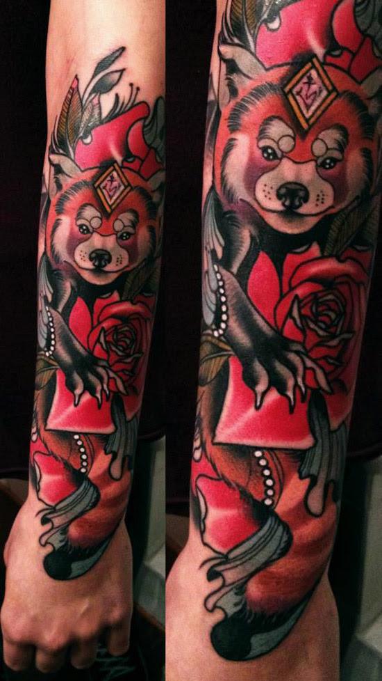 Red Panda Sleeve | Best tattoo design ideas