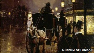 A Hansom Cab Stand by P.Stahl