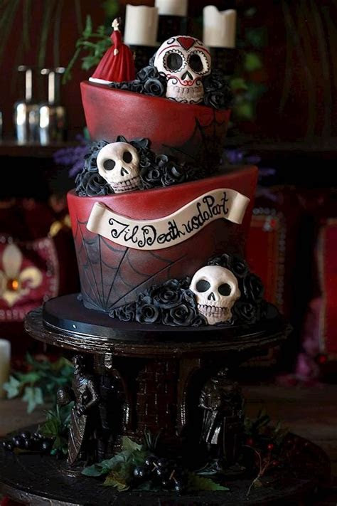 Caz and Grant's Red & Black Wedding with Tim Burton