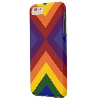 Rainbow Colored Chevrons iPhone 6 Plus Case