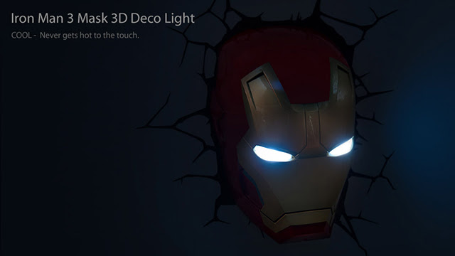3D Iron Man 3 Mask Nightlight