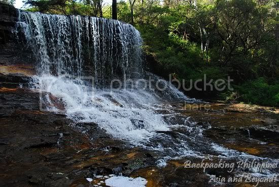 Wentworth Falls top cascade