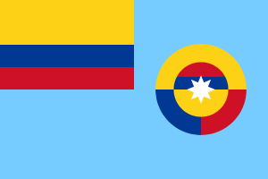 English: Ensign of the Air Force of Colombia. ...