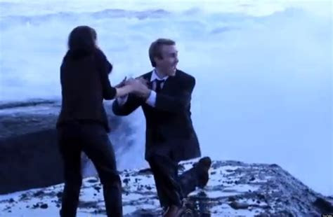 Marriage Proposal Fails: Couple Washed Away By Huge Ocean