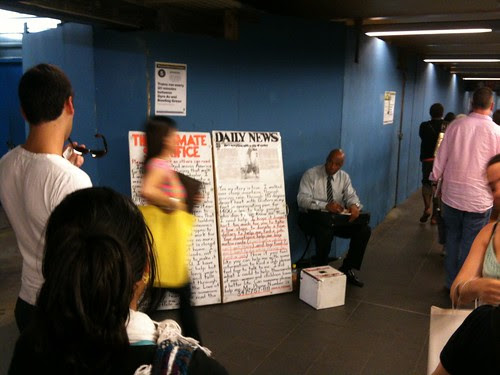 At the Fulton St. station, NYC