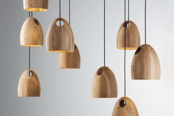 Holey Wood Lighting - The Oak Pendant Lamp by Ross Gardam is ...