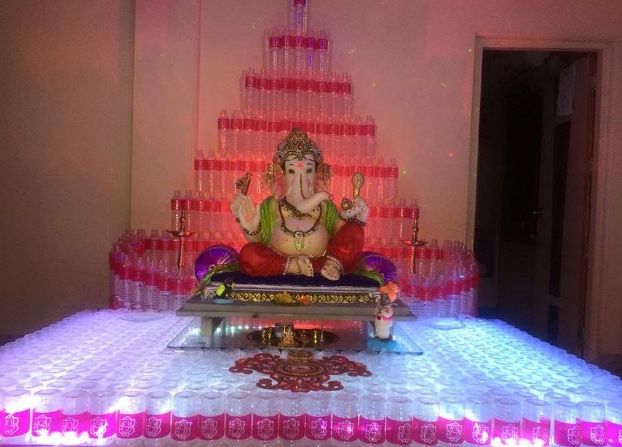 60 Innovative Ganpati Decoration Ideas For Home Simple