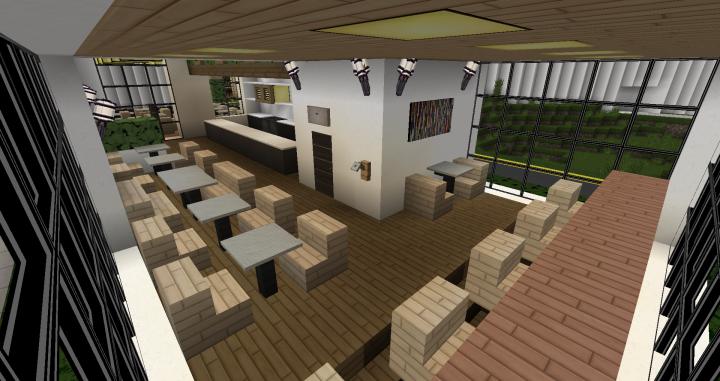 Modern Cafe Minecraft Project