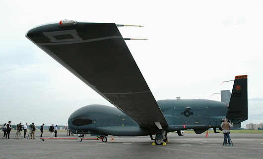 U.S. military in Japan unveil Global Hawk surveillance drone - Japan Today