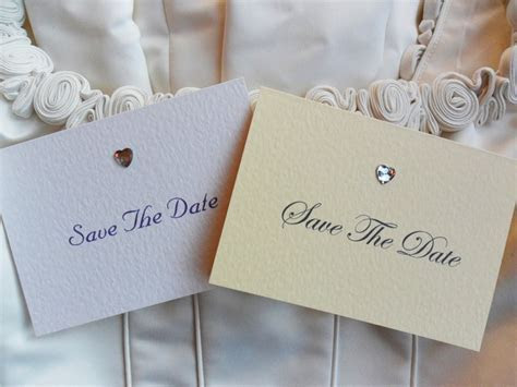 Save The Date Cards £1.15 each with Diam (more) Ivory