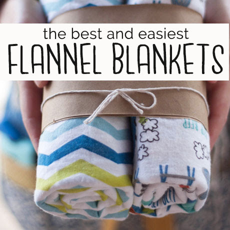 flannel baby receiving blanket easy shower gift tutorial