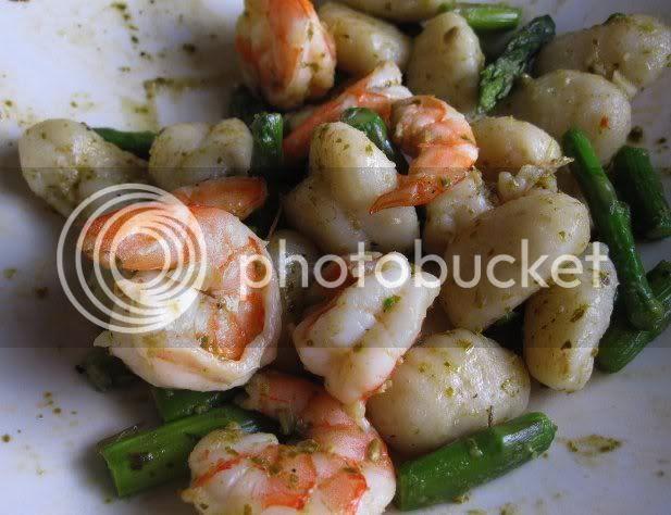Pesto and Shrimp Gnocchi