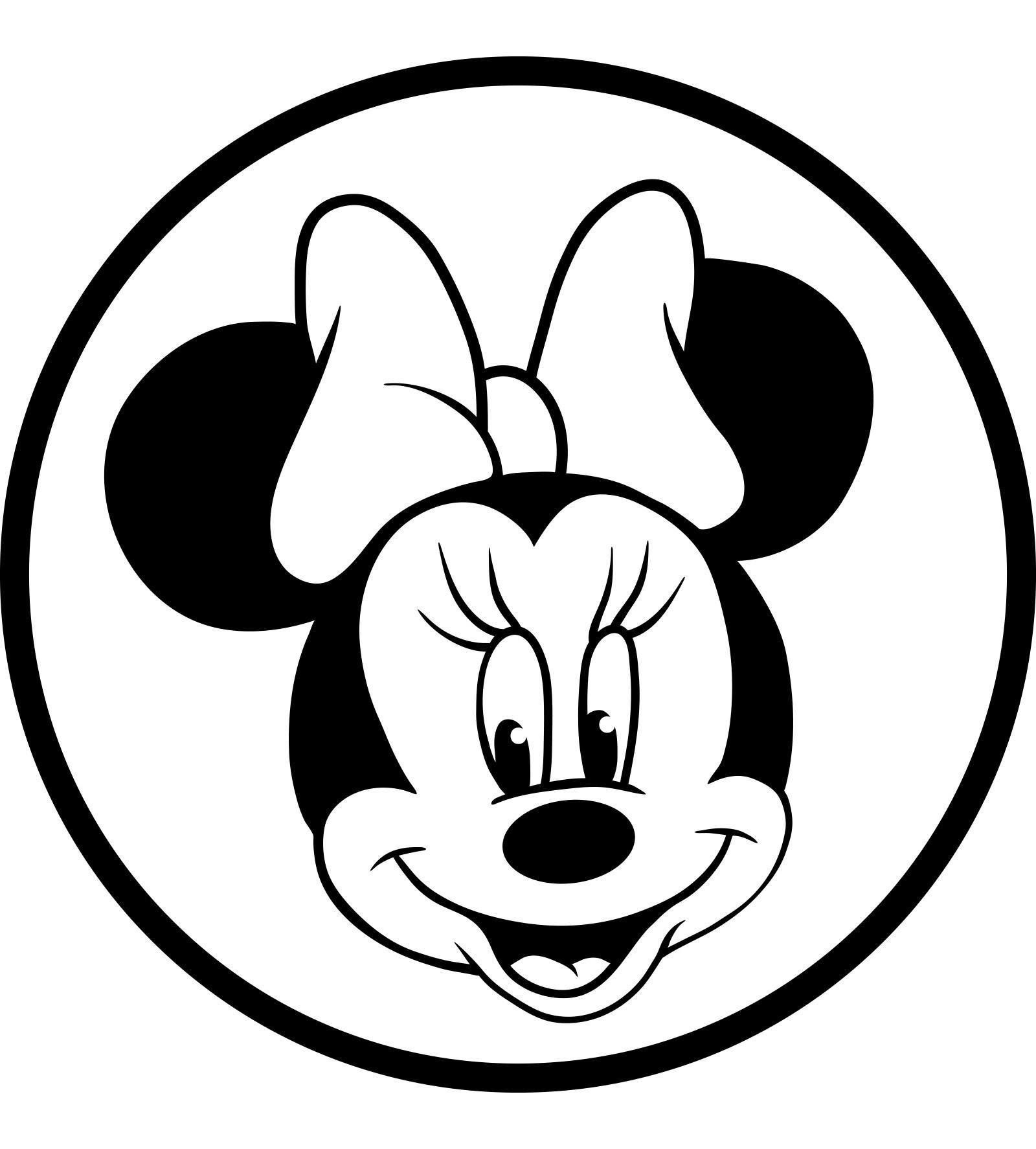 Coloriage  imprimer Personnages cél¨bres Walt Disney Mickey Mouse Minnie Mouse numéro