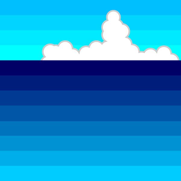 かわいい夏の海の無料イラスト商用フリー オイデ43