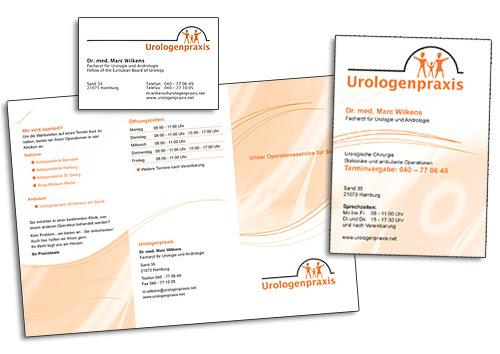 Gestaltung von Visitenkarten, Flyern und Broschüren