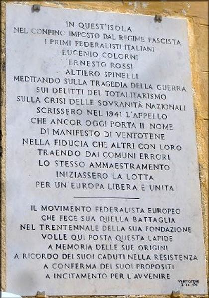 Eventi dal Mondo: Il Manifesto di Ventotene di Altiero Spinelli