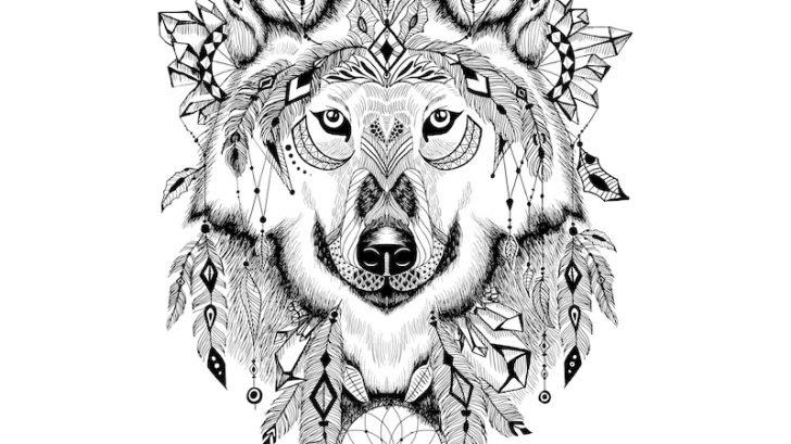 heulender wolf vorlage  ausmalbilder