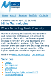 Minlo mobile site