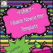 Newsletter Template (Fillable) - FUNKY