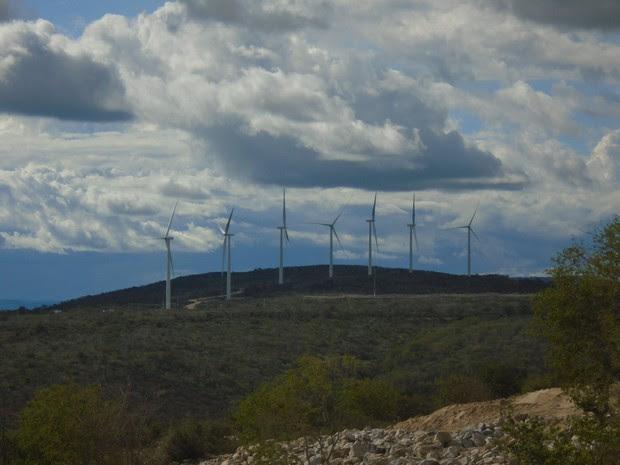 Completo tem oito parque eólico distribuído em 4 municípios de PE (Foto: Divulgação/Casa dos Ventos)