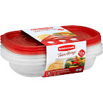 Rubbermaid Take Alongs Containers + Lids, Divided Rectangles, 3.7 Cups - 3 containers