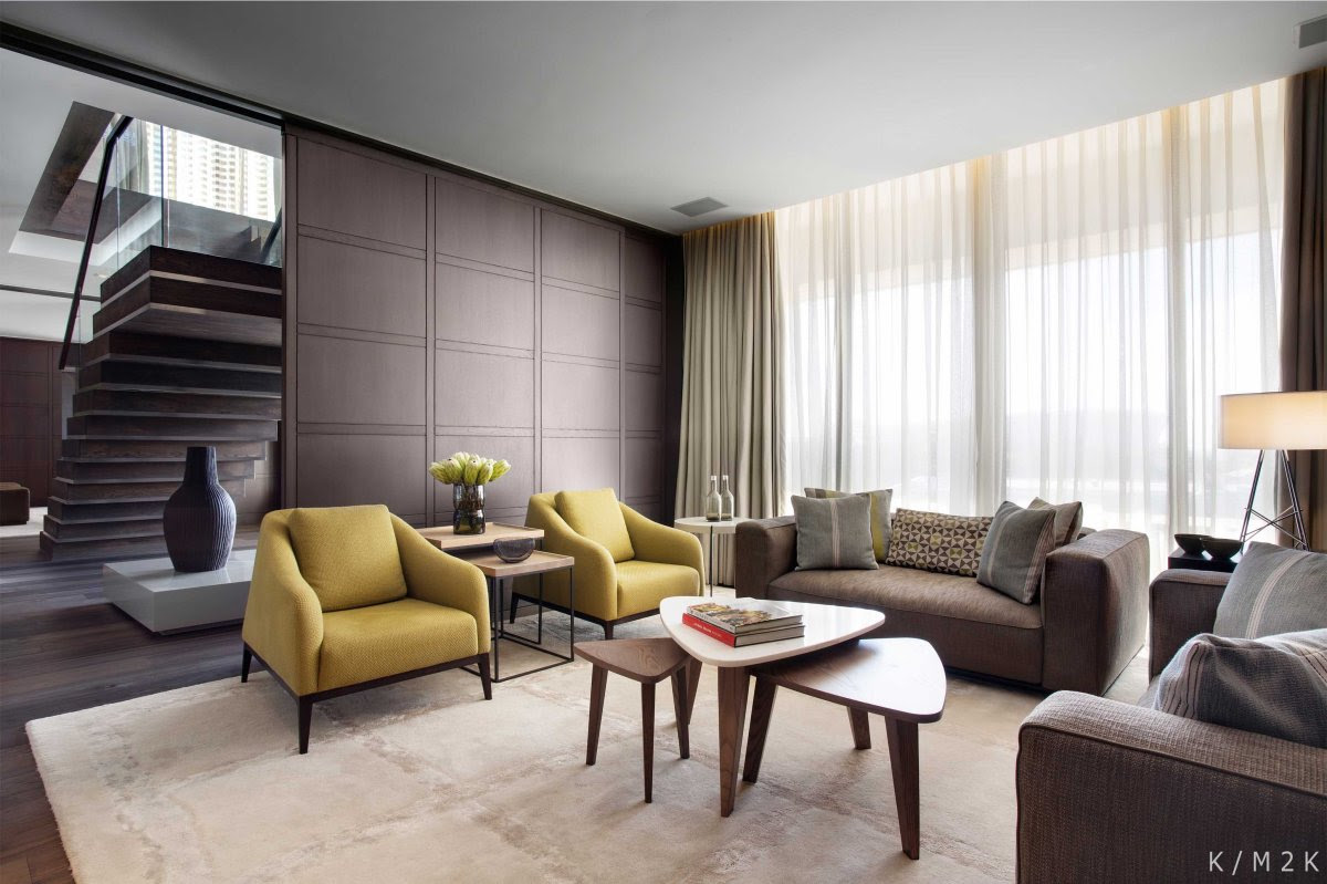 Elegant Penthouse Apartment 1 by Keith Interior Design & M2K