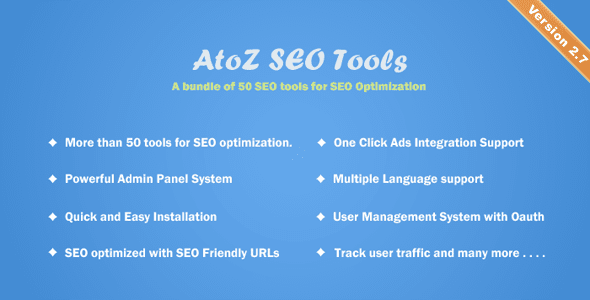 AtoZ SEO Tools v2.7 - Search Engine Optimization Tools