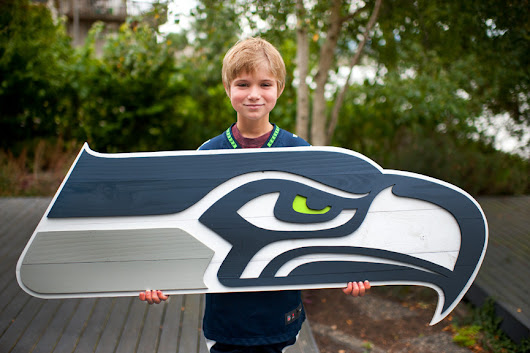Seattle Seahawks Custom Wood Flag