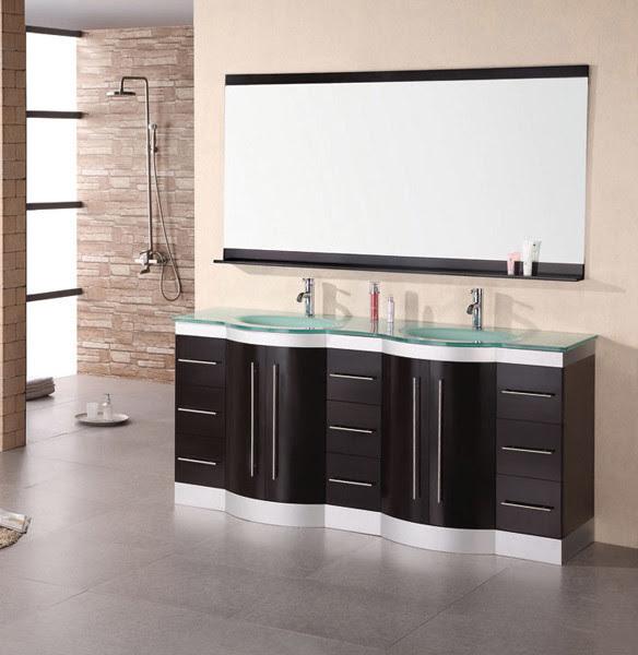 Double Sink Vanity Set - traditional - bathroom vanities and sink ...